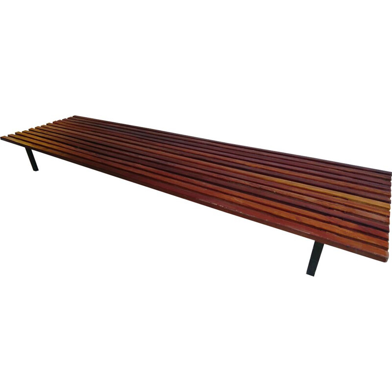 Vintage Cansado bench by Charlotte Perriand
