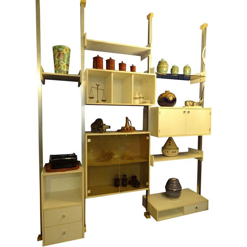 Vintage modular bookcase by ARP for Minevielle