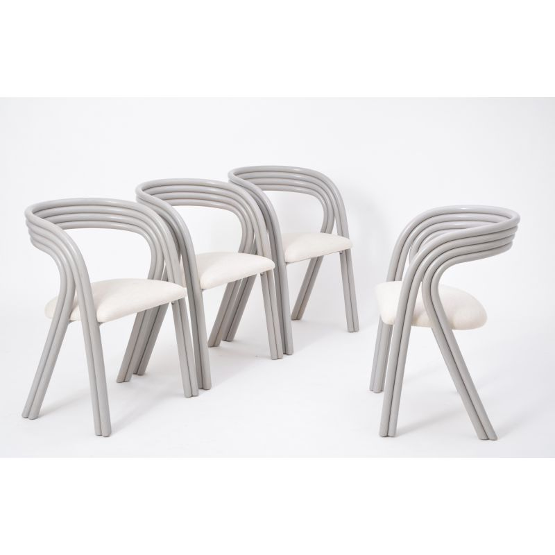 Fine Set Of 4 Vintage Dutch Dining Chairs By Axel Enthoven For Rohe Noordwolde Andrewgaddart Wooden Chair Designs For Living Room Andrewgaddartcom