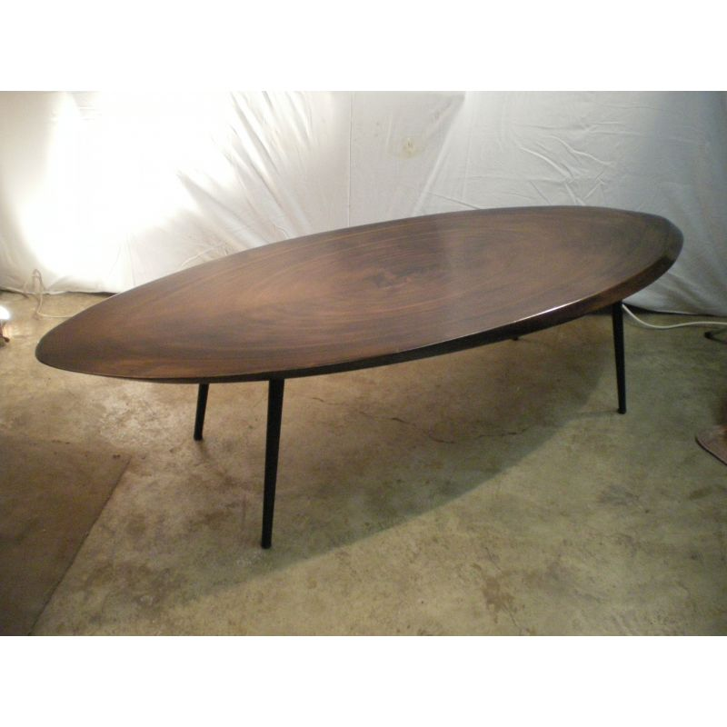 Vintage Oval Coffee Table In Solid Wood