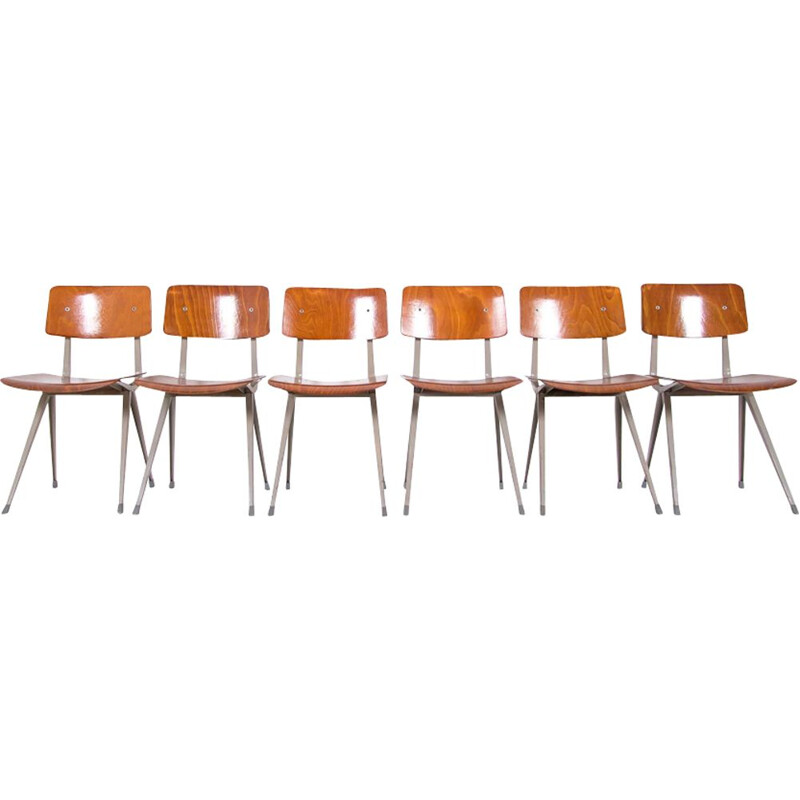 Set of 6 vintage result chairs by Friso Kramer