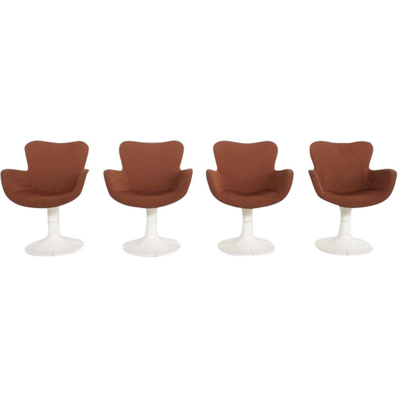 Set of 4 vintage chairs Trèfle by Christian Adam for Airborne