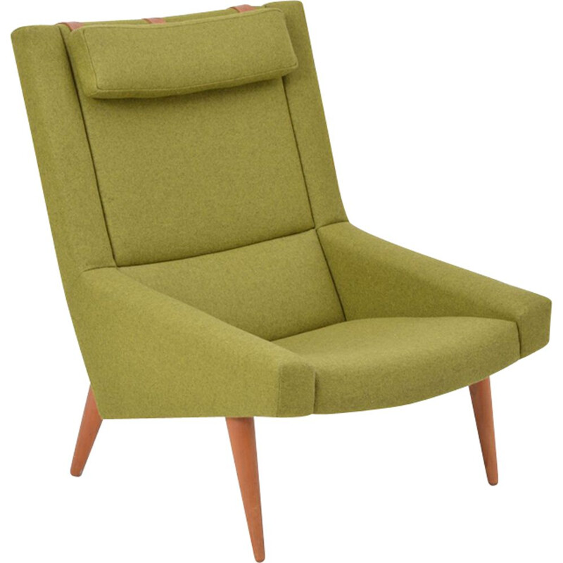 Vintage green lounge chair by Illum Wikkelso for Soren Willadsen