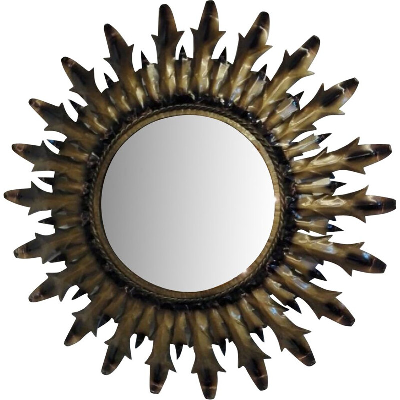 "Vintage mirror ""Sun"" in metal"