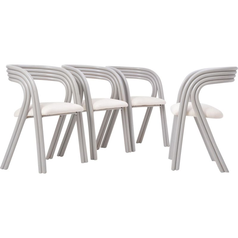 Fantastic Set Of 4 Vintage Dutch Dining Chairs By Axel Enthoven For Rohe Noordwolde Andrewgaddart Wooden Chair Designs For Living Room Andrewgaddartcom