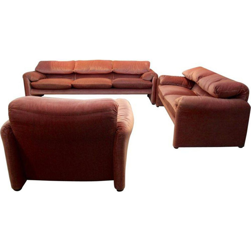 Vintage living room set Maralunga by Vico Magistretti for Cassina