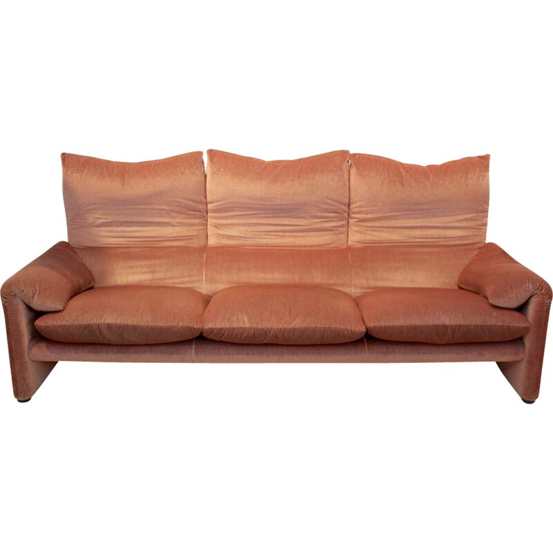 Vintage 3-seater Maralunga sofa by Vico Magistretti for Cassina
