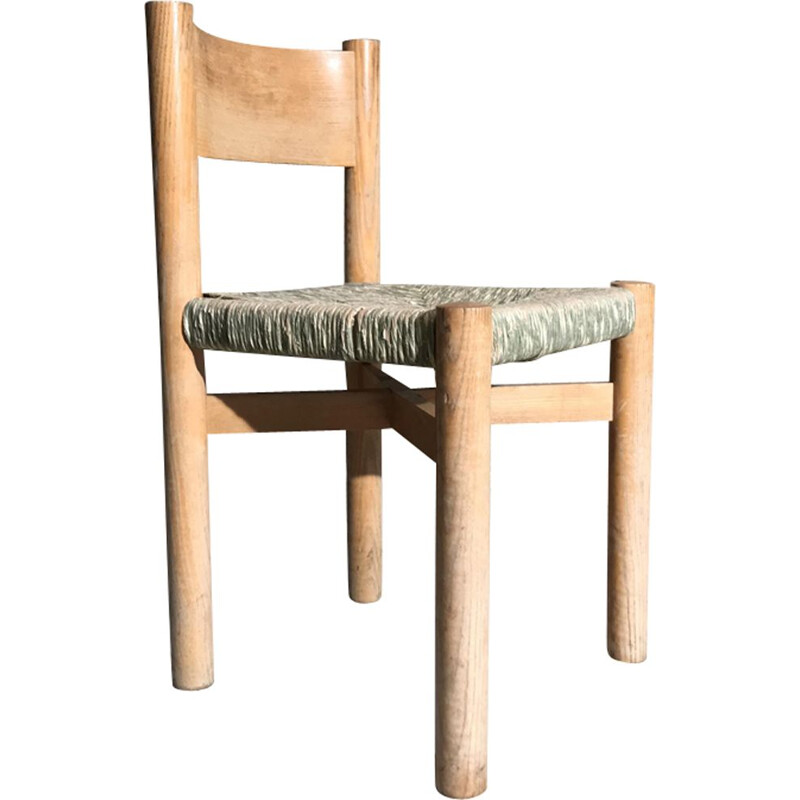 Vintage Méribel chair in rattan by Charlotte Perriand
