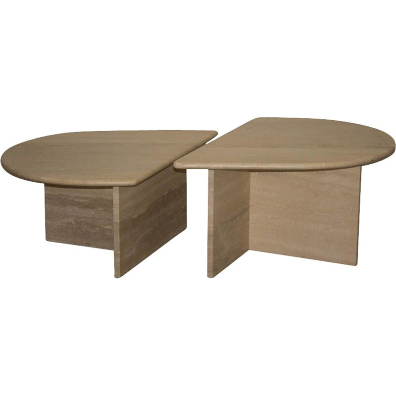 Vintage modular table in travertine