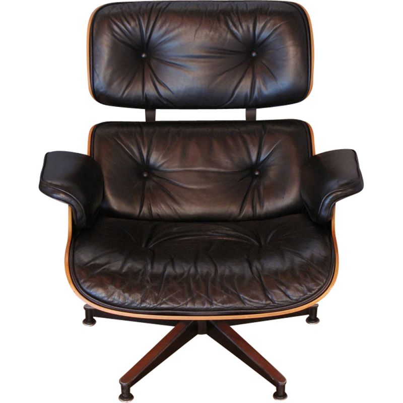 Vintage rosewood armchair by Eames for Herman Miller