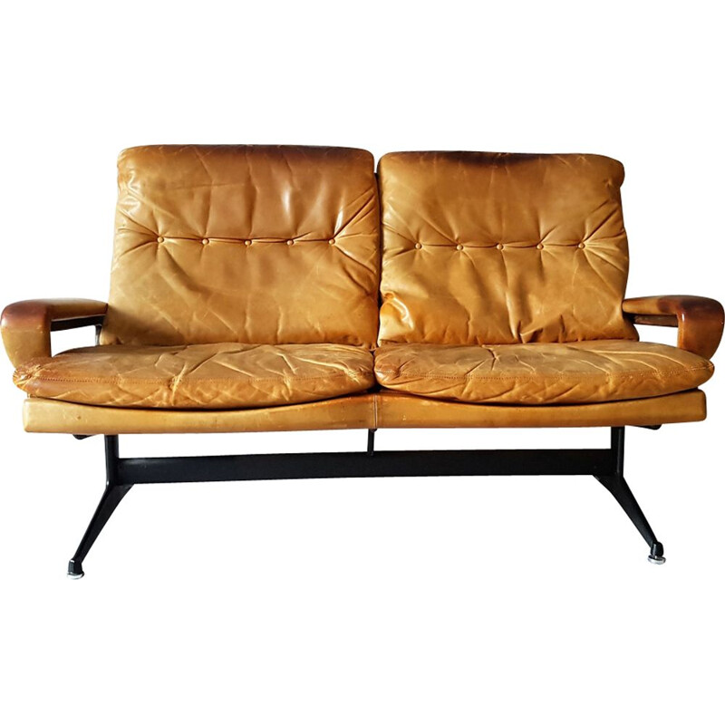 Vintage King sofa in leather by André Vandenbeuck for Strässle