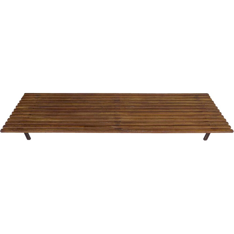 Vintage Cansado bench by Charlotte Perriand in mahogany