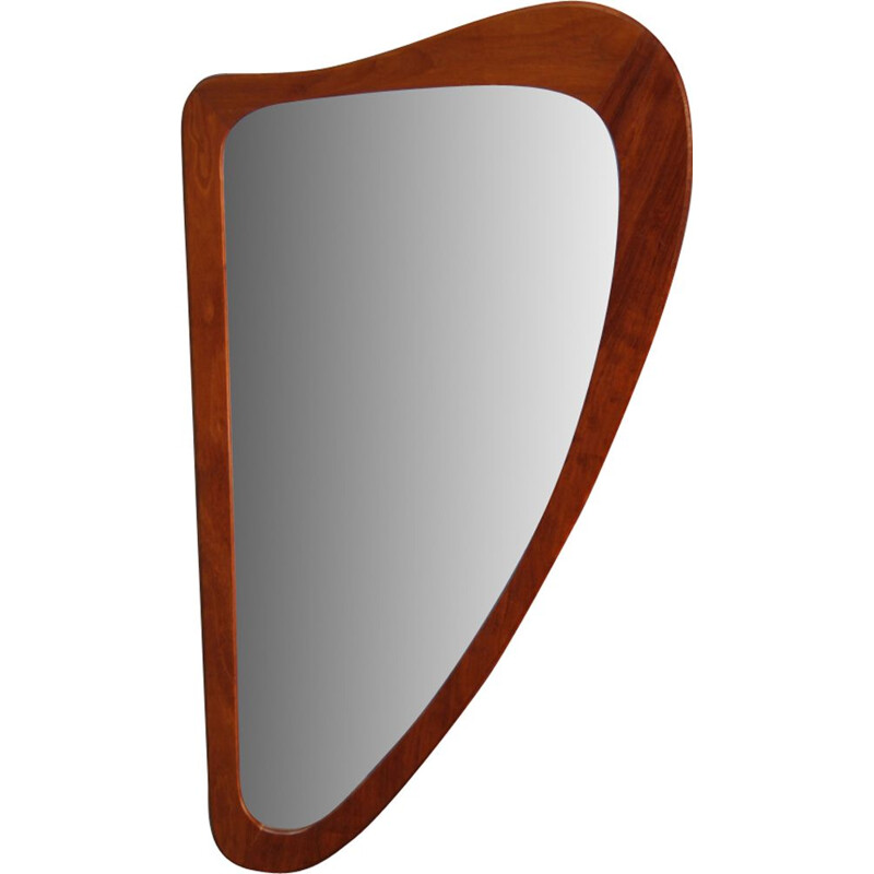 Danish mirror in teak by Johansen Spejle