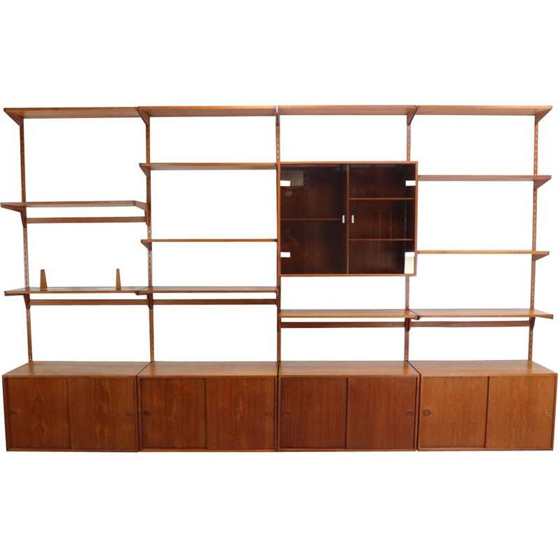 Vintage teak wall unit by Kai Kristiansen
