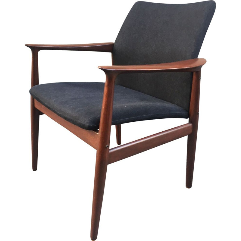 Vintage Danish armchair in teak