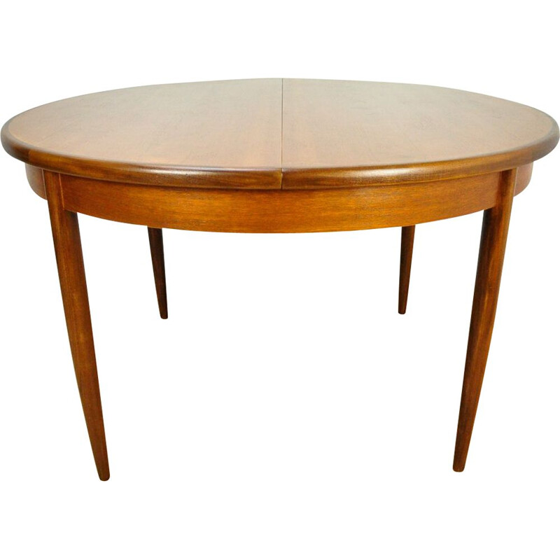 Vintage extendable round dining table by G-Plan