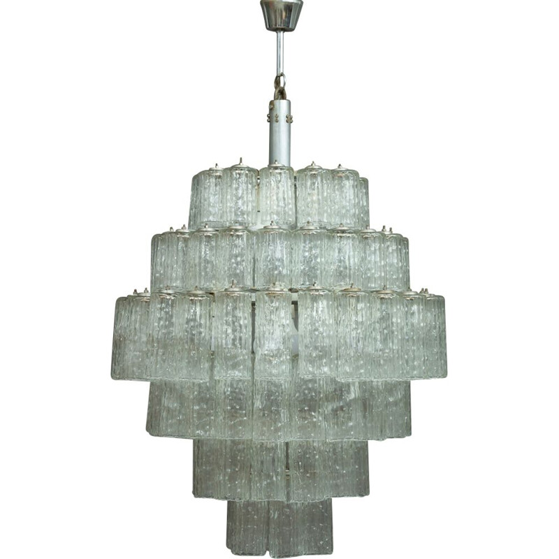 Vintage Murano glass chandelier for Venini in glass 1960