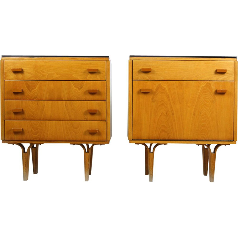 Pair of vintage nightstands from Novy Domov