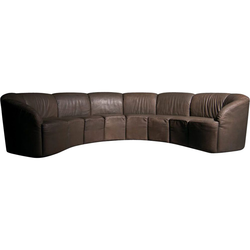 Vintage Piccolino sofa in leather by Walter Knoll