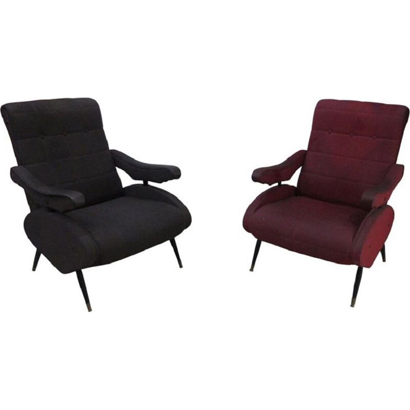 Pair of vintage Oscar armchairs by Ello Pini