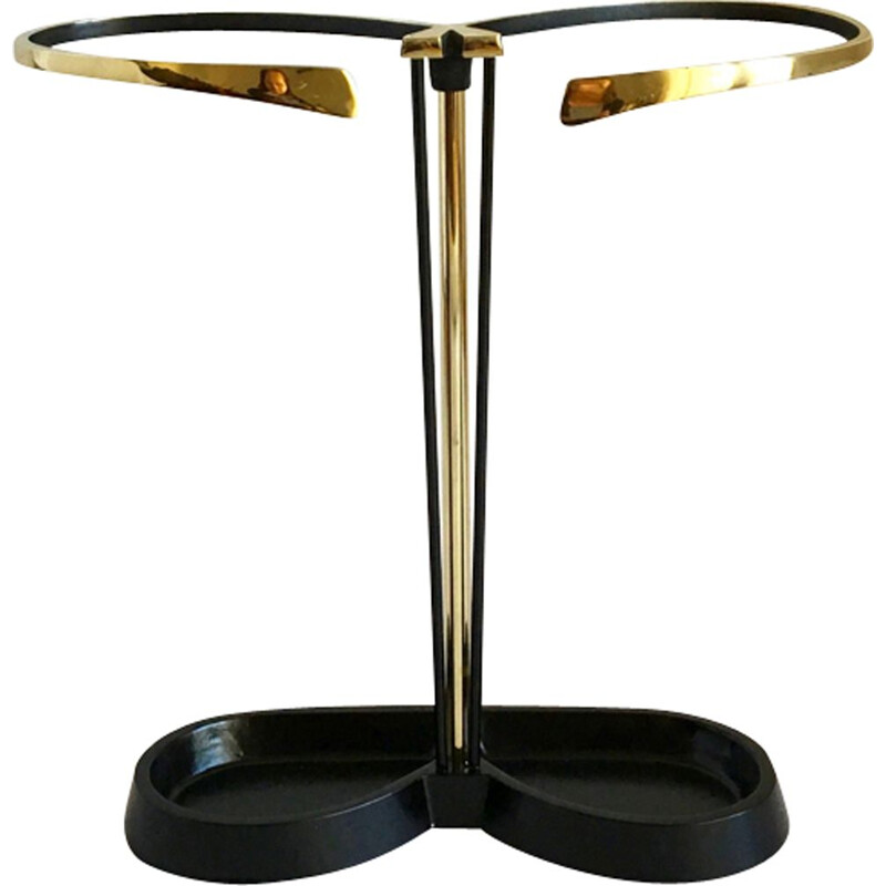 Vintage umbrella stand in brass
