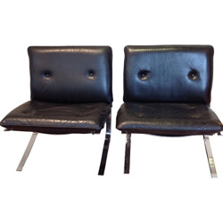 Pair of Joker low chair, Olivier MOURGUE - 1960s