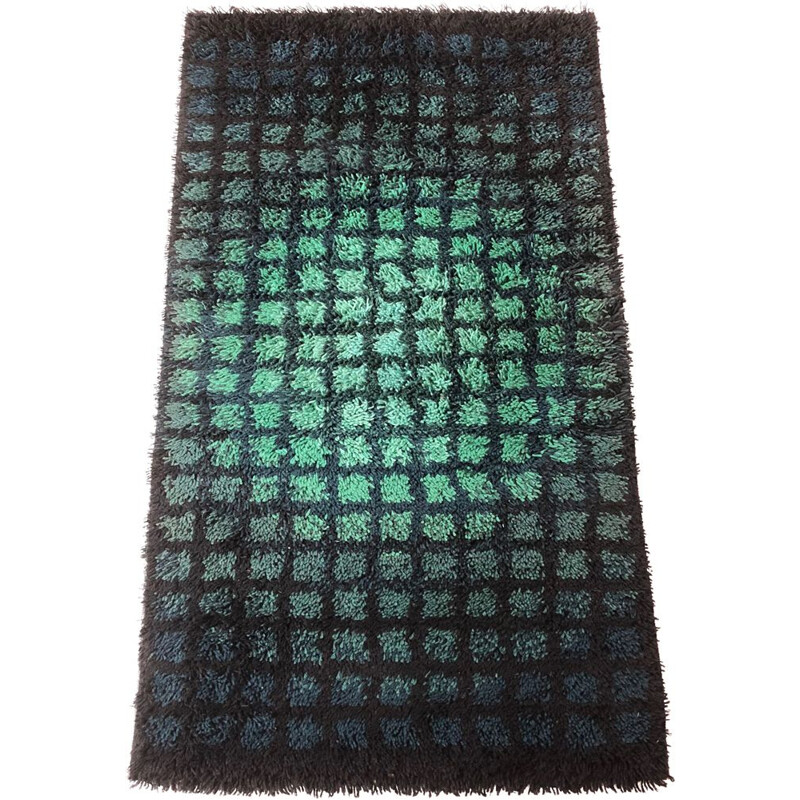 Vintage abstract Pop Art Finlandia Rya rug by Verner Panton for Unika Vaev Carpet