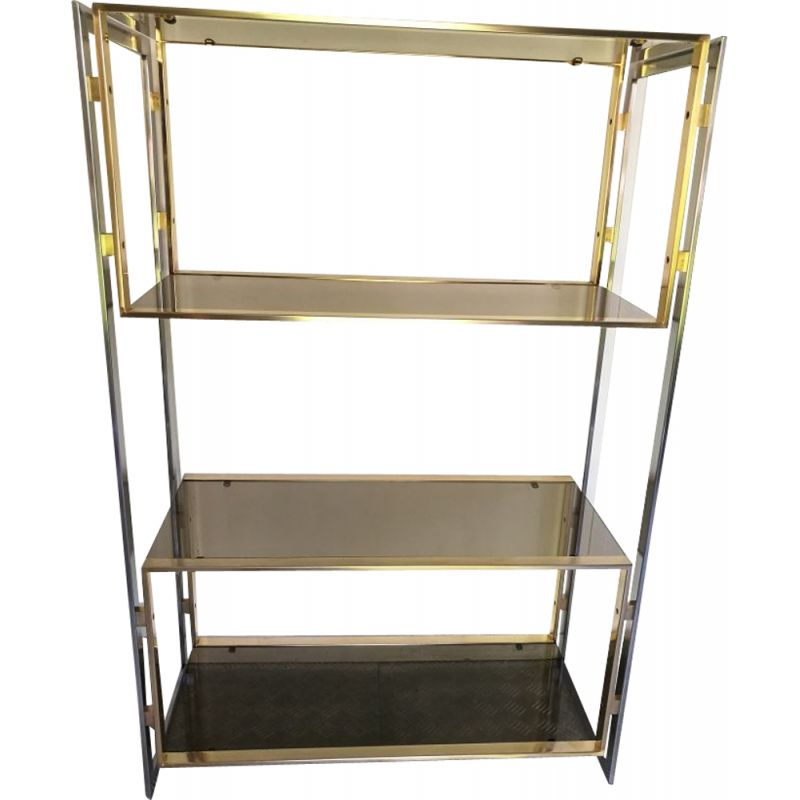 Vintage shelf in golden metal