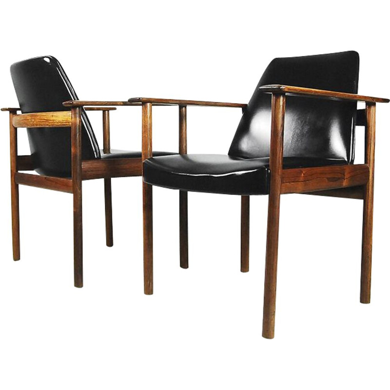 Set of 2 vintage Norwegian armchairs by Sven Ivar Dysthe for Dokka Møbler