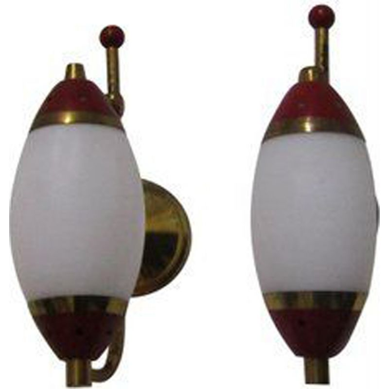 Set of 2 vintage Italian wall lamps by Stilnovo