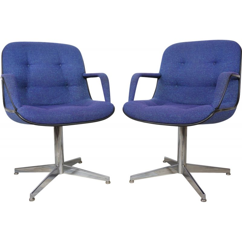 "Set of 2 vintage armchairs ""451"" by Randall Buck for Strafor"