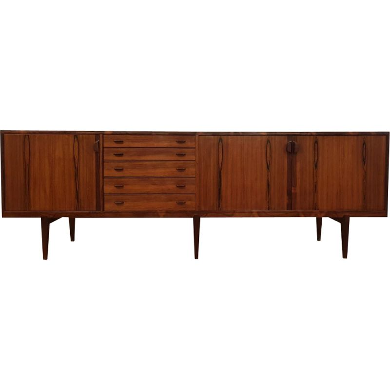 Vintage sideboard in rosewood of Rio by H. Rosengren Hansen