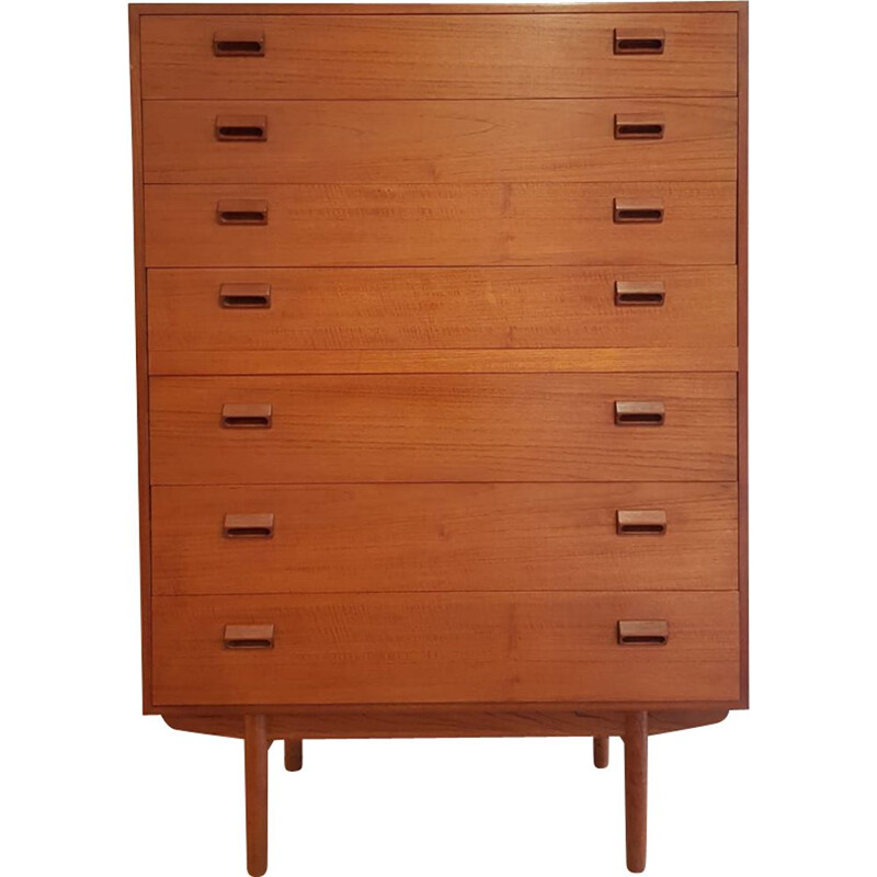 Vintage chest of drawers in teak by Borge Mogensen