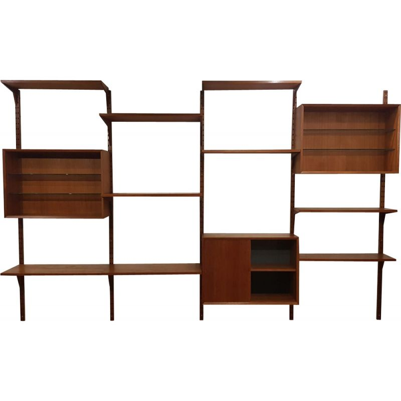 Vintage teak Royal System library by Poul Cadovius 1960