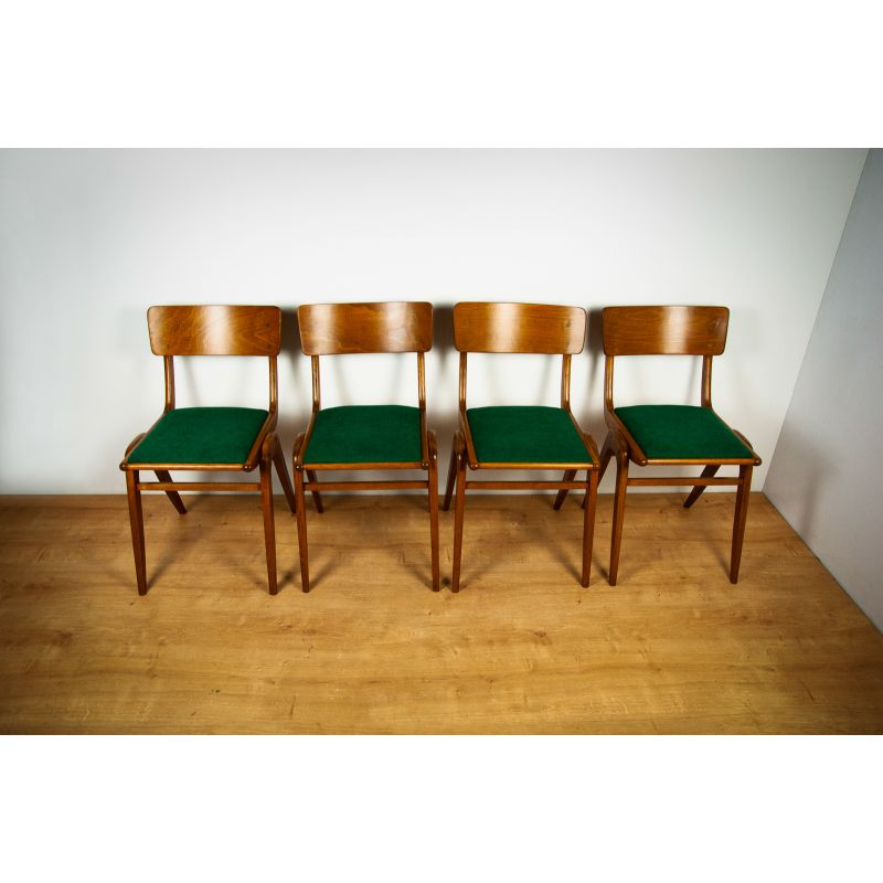 Set Of 4 Vintage Chairs Bumerang Type 229xb By Goscinskie