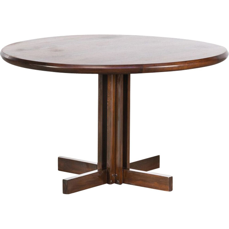 Vintage round dining table in rosewood