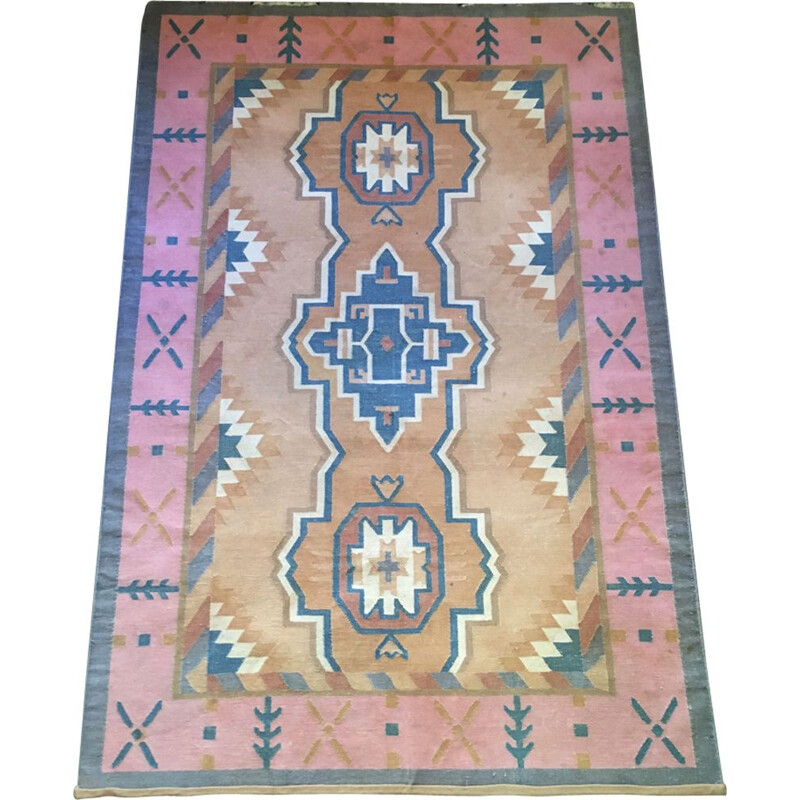 Vintage Kilim carpet in cotton