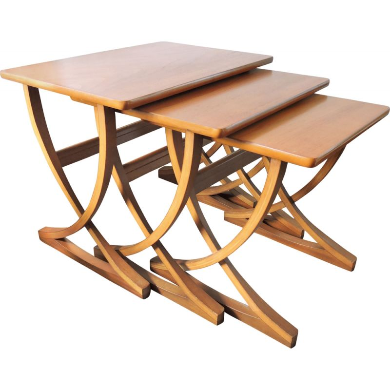 Vintage nesting tables in teak  from Nathan