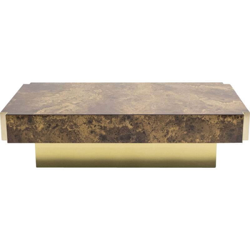 Vintage coffee table in brass by the Jansen home