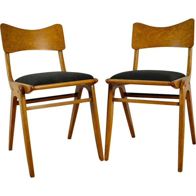 Set of 2 vintage chairs Bumerang Type 229XB from Gościńskie Furniture Factory