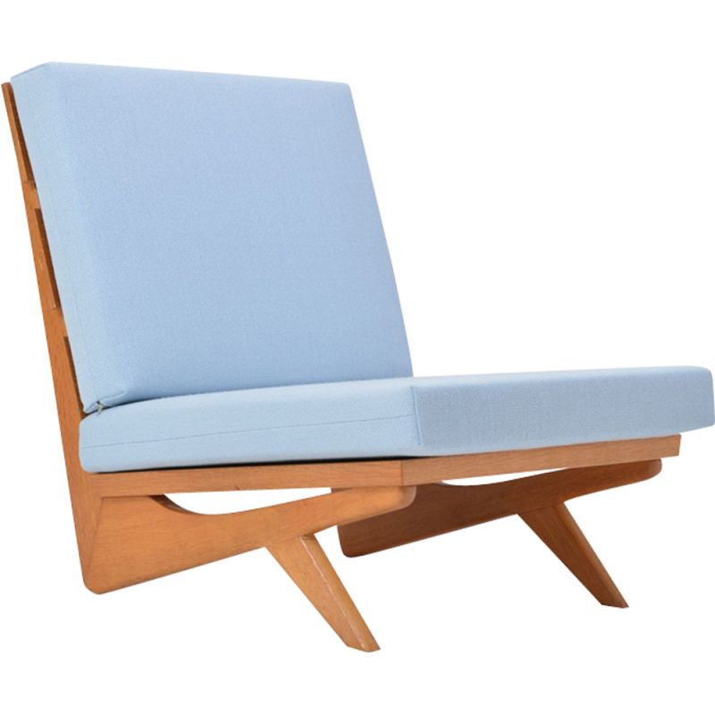 Vintage blue armchair by Georg Thams for As Vejen