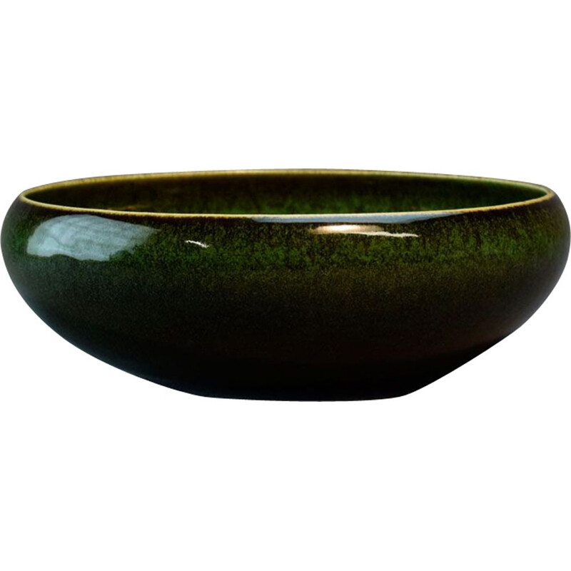 Vintage green ceramic bowl for Rörstrand