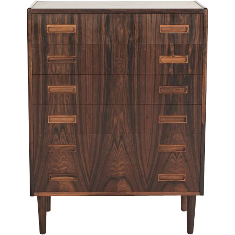Vintage Danish chest of drawers in rosewood by Westergaard