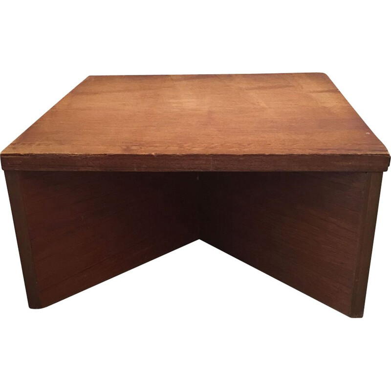 Vintage coffee table in wood by Pierre Guariche