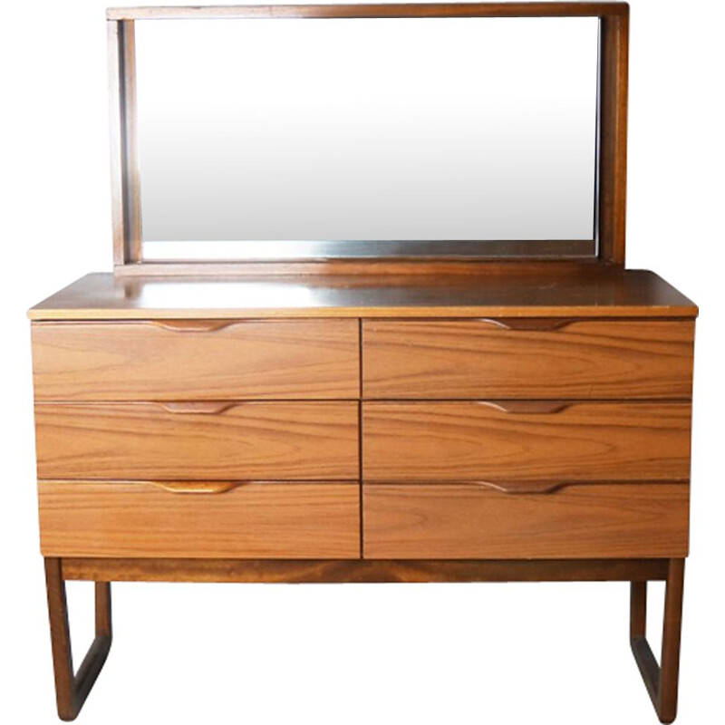 Vintage chest of drawers with mirror by Europa Furniture