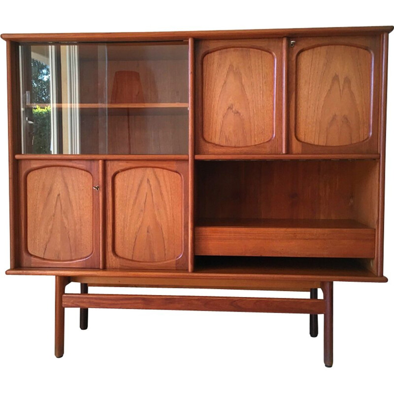 Vintage scandinavian sideboard for Gerhard Berg in teak 1960