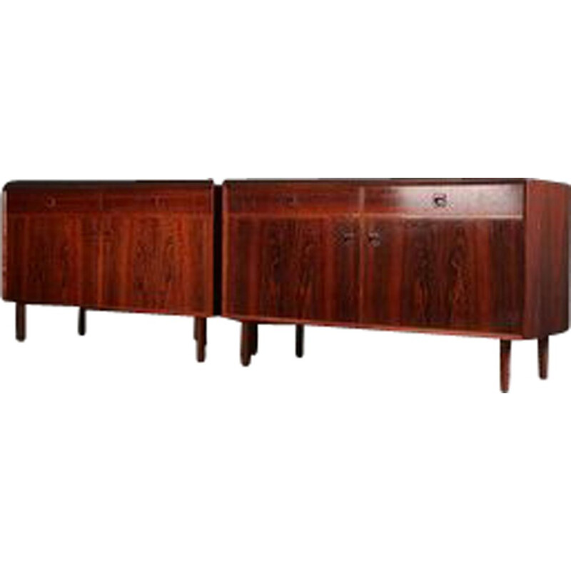 Pair of vintage sideboards for Dansk Mobelproducent in rosewood 1960