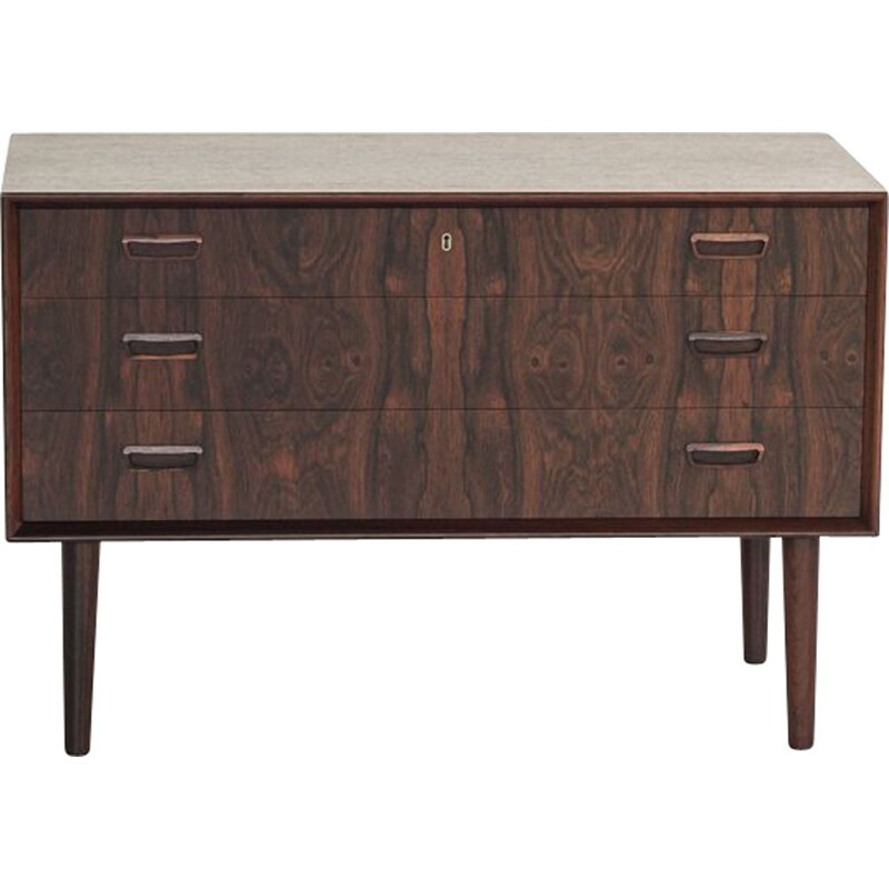 Vintage rosewood chest of 3 drawers by Kai Kristiansen for FM