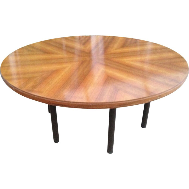 Vintage swiss dining table in wood 1960