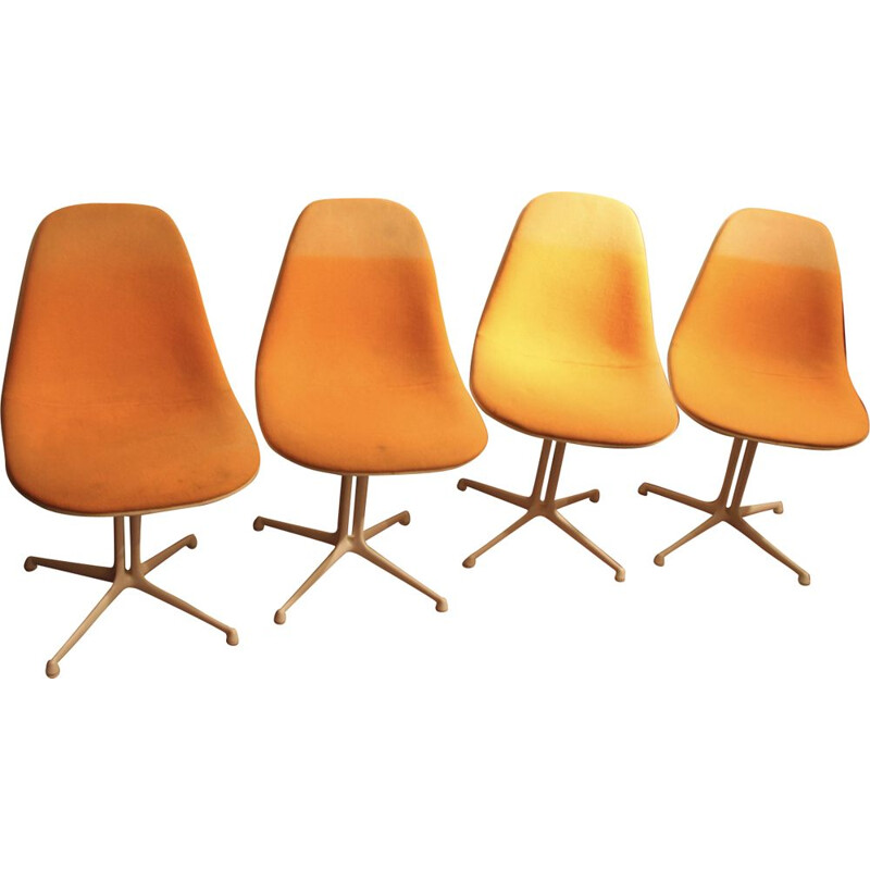 Set of 4 Lafonda chairs by Eames for Herman Miller